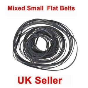 50 Pcs Approx Cassette Tape Belt Mixed Common Sizes 40-135mm,4 mm Flat UK SELLER