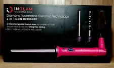 Inglam 3 in 1 Anti-Static Curling Iron Set with 3 Interchangeable Ceramic...