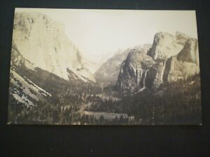 RPPC YOSEMITE from Artist's Point early real  photo
