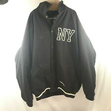 Stall & Dean Men's 4XL Black Button-Up Varsity Jacket New York