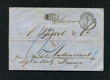 """Baden - 1869, """"b.12k"""" clairement sur lettre enveloppe (#4011)"""