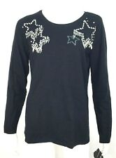 Anna Sui Inc International Concepts Womens Embellished Star Sweater XL NEW