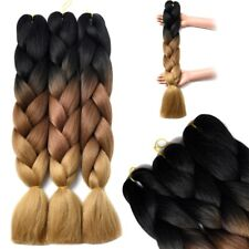 Thick Braiding hair Straight Kanekalon Ombre Jumbo Braids Hair Weaving Hair Z182