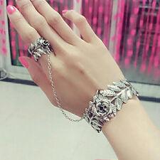 Women's Girls Newest Boho Hand Harness Bracelet Chain Bangle Slave Finger Ring