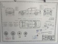 BMW E36 M Limousine  Ab 1994 Konstruktionszeichnung Blueprint