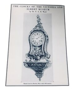 The Clocks of the Victoria and Albert Museum by Dr F Ward 1975