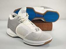 BRANDBLACK~215BB~J Crossover 2~Basketball Shoes~White Silver Blue~Men's Size 12~