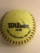 Wilson A9150 1 softball used for recreational use only