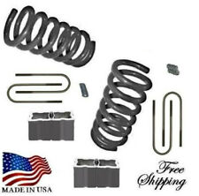 "1982-2004 S10 Sonoma Blazer Jimmy S15 3""-4"" Lowering Kit Springs Blocks xzx"