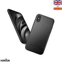 NEW BLACK Ultra Thin Slim Carbon Fibre Case Cover Bumper Apple iPhone 10 X 8 7