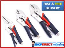 3 Piece Heavy Duty Grip Wrench Set Vice Locking Lock Plier Mole Grip Tool 2312