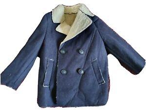 Shearing coat, 12-18 Months, Navy, Sherpa, baby, winter, warm