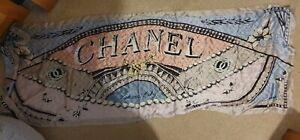 100% Sone Silk Chanel Habana Cuba Beautiful Scarf