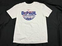 NEW Nike DePaul Blue Demons - White Cotton Short Sleeve Shirt (Multiple Sizes)