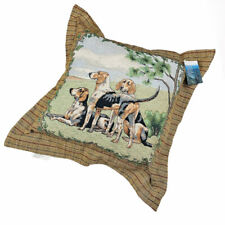 Fox Hunt Beagles Hunting Dogs Large Square Tapestry Pillow Plaid Flanged