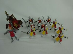 Schleich Plastoy Medieval Knights Soldiers Horse Figures ~ Mixed Lot