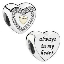 Genuine Pandora Always in My Heart charm Silver S925 ALE 791523CZ