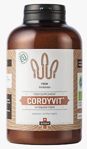 BIO Cordyceps Pilzpulver Raupenpilz Caterpillar Fungus Mushroom 250 g CordyVit®