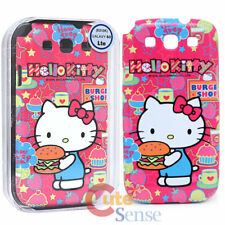 Sanrio Hello Kitty Samsung Galaxy 3 S3 Rigida Custodia Cover Telefono: Hamburger
