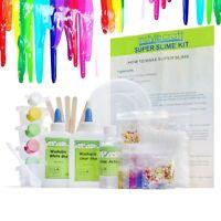 DIY Slime Kit for Girls & Boys, Make Glow-In-The Dark, Clear, Neon,Glitter Slime