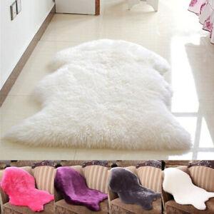 Sheepskin Rug Fluffy Soft Wool Shaggy Area Rugs Faux Fur Rug Hairy Mats