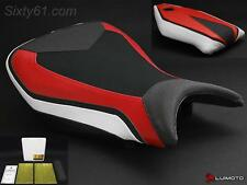 BMW S1000RR Seat Covers 2015 2016 2017 with Gel Red Black White Technik Luimoto
