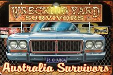 1976 CHRYSLER CL CHARGER 770 WRECKING YARD SURVIVORS ALL WEATHER TINSIGN 450X300