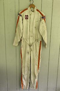 Vintage 50s 60s Midget Indy Hinchman Racing Driver Suit Pit Crew Talon Zipper