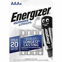 Pile AAA lithium LR03 LR3 E92 Micro Energizer Ultimate lot de 4 piles au lithium