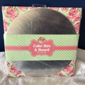 10 inch (25.5 cm) CAKE BOX & BOARD