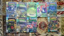 Lot of 9 TEENAGE MUTANT NINJA TURTLES ADVENTURES Comic Books #1-4, Archie, Movie