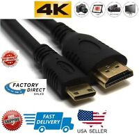 Mini HDMI Male to HDMI Male Type C Gator Cable Adapter HDTV DV 1080p