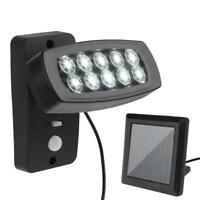 LED Lumière Solaire Lampe avec Détecteur de Mouvement Luminaires Jardin