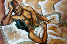 "African American Art ""Cherished Moments"" Black Romantic art print - Gerald Ivey"