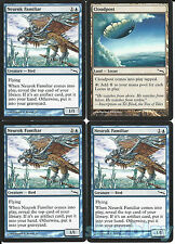 4 MTG Magic the Gathering Mirrodin Cards Neurok Familiar 3X + Cloudpost