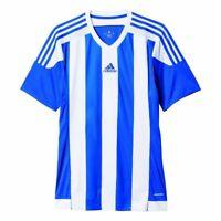 Adidas Fußball Striped 15 Trikot Herren Kurzarmshirt blau weiß