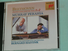 BEETHOVEN: PIANO CONCERTOS 1 & 2. PERAHIA/HAITINK. Sony Classics CD.
