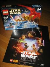 LEGO STAR WARS 2016 ADVENT CALENDAR # 75146  282 pc BONUS Revenge of Sith POSTER