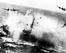 RAF Bristol Beaufighters Attacking German Shipping 8x10 World War II 2 Photo 545