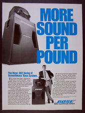 1989 Bose 302 Series II Acoustimass Bass System 802 Speakers vintage print Ad