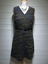 Tu Dress ~ Size 12 ~ Black Multi Colour ~ Sleeveless ~ Party Casual ~ 2065