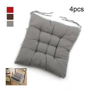 4PCS Square Thicker Cushions Chair Seat Pad Dining Room Garden Kitchen School