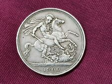New ListingPre Ww1 Antique Great Britain Crown Lkiii Silver Veiled Head Coin 1900