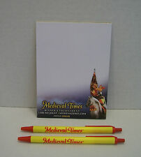 MEDIEVAL TIMES Collectible Novelty Pen & Paper Pad Set of 3