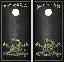 DONT TREAD ON ME USA.Cornhole Board Game Decal Wraps USA High Quality Image bag