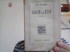 Ramuz  C.-F.  Adam et Eve  Grasset 1933 Numéroté sur Alfa TBE
