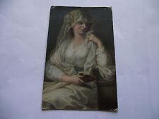 1913 POSTCARD TO CORK. LA VESTALE by ANGELICA KAUFFMANN. BELFAST CANCEL