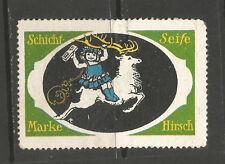 Sello De Publicidad Jabón ciervo en capas/etiqueta (texto alemán)
