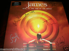 JAMES - 'GIRL AT THE END OF THE WORLD'  BRAND NEW FULLY SIGNED DOUBLE VINYL LP