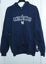 Majestic New York Yankees MLB 2000 Playoffs Navy Blue Pullover Hooded Sweatshirt